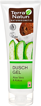 Gel douche TN Aloe Vera & Coco, 250 ml