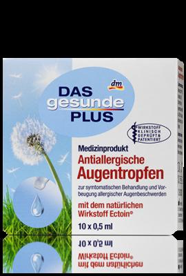 Gouttes ophtalmiques anti-allergiques DGP, 10x0,5 ml