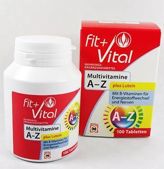 Multivitamines & Minéraux + Lutéine, Fit+Vital pour 100 jours !