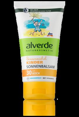 Baume solaire Alverde pour Enfants SPF 30, 150 ml