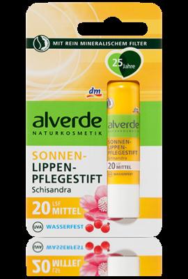 Stick labial Alverde SPF 20 + filtre minéral naturel - 4,8 g