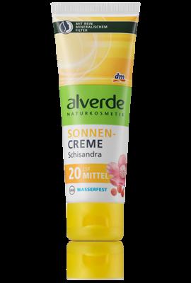 Crème solaire Alverde SPF 20 avec filtre minéral naturel - 75 ml