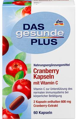 Capsules de Cranberry + Vitamine C DGP, 60 capsules