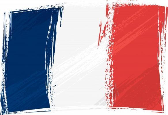 Grunge france flag hi