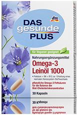 Oméga 3 huile de Lin 1000 mg DGP + B6, B12 et Vitamine E - 30 capsules