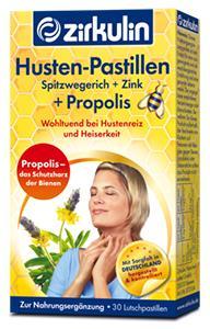 Pastilles contre la toux au Zinc, Plantain et Propolis, 30 pastilles